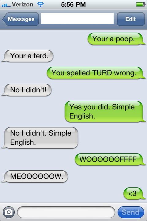 Funny Text Conversation