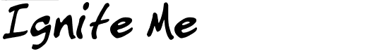 ignite me font for youth ministry