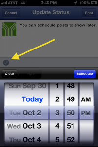 Schedule Updates Via the Facebook Pages App
