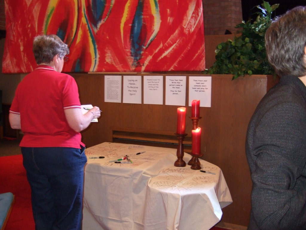 Laying on of Hands Prayer Station Idea